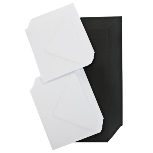 black- cards and envelopes