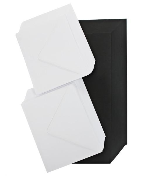 black- cards and envelopes