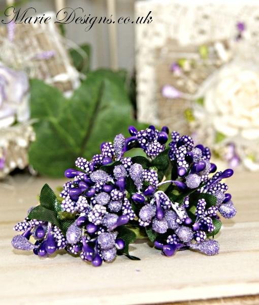 mixed flower purple