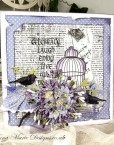 Floral Bird Cage Stamp