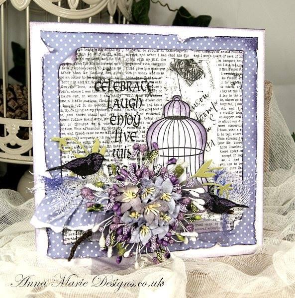 Floral Bird Cage Stamp