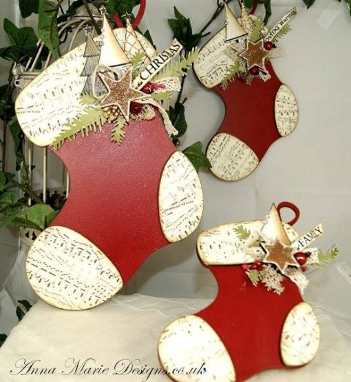 CHRISTMAS STOCKINGS PLAQUES