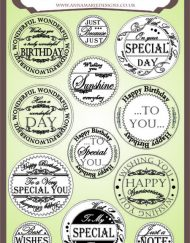 Circle Messages Stamps