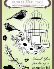 Floral Bird Cage Stamp Set
