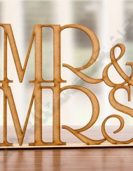 Mrs and Mr stand up mdf