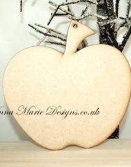 wooden apple plaque