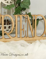wooden friends stand up word