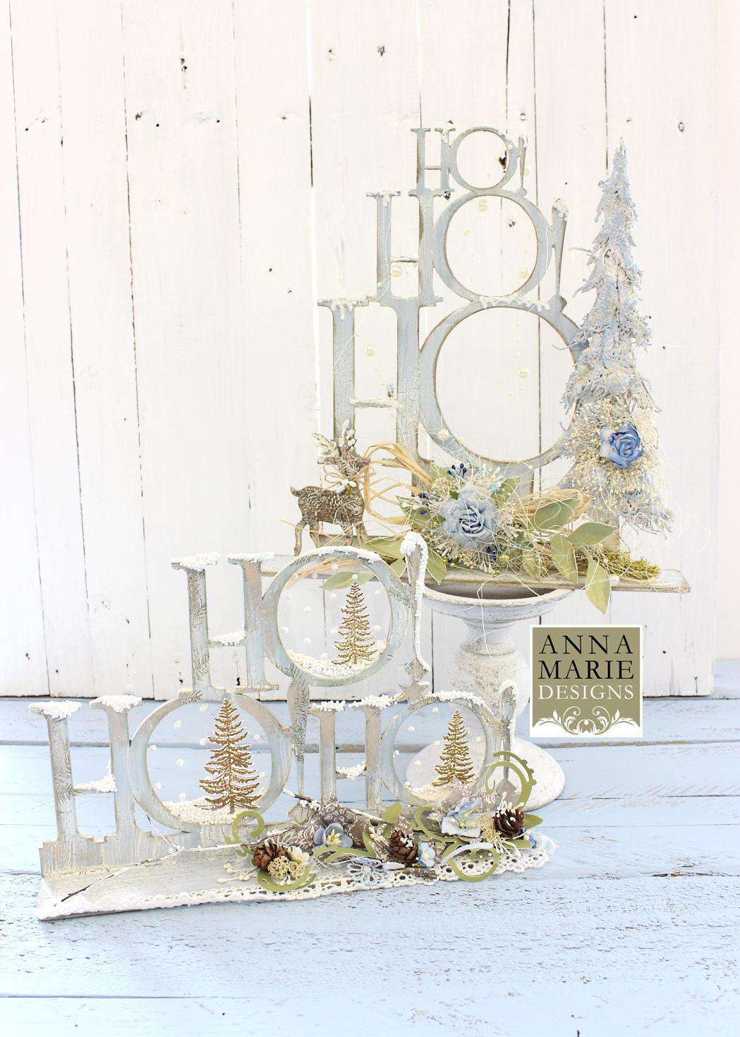 3mm MDF Noel with Snowflake on a stand