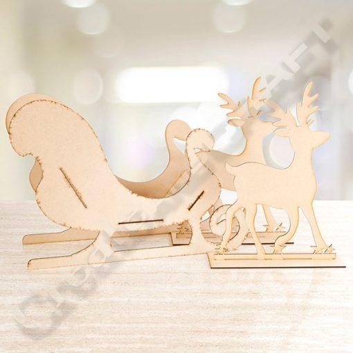 jumbo sleigh and jumbo reindeer