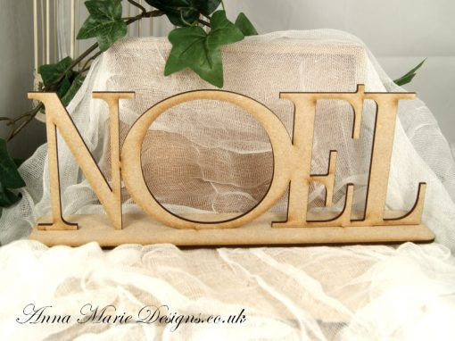 wooden noel stand up word
