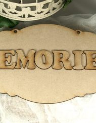 wooden scalloped plaque