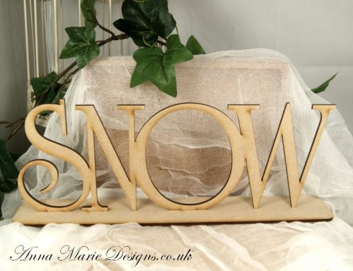 wooden snow stand up word