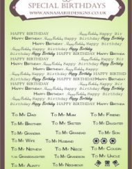 special birthdays