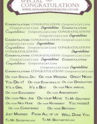 special congratulations