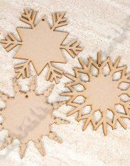 wooden snowflakes pk 3