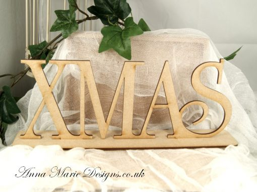 wooden stand up word xmas