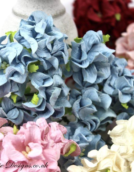 Flowers - Blue Gardenias PK 10 - Anna Marie Designs