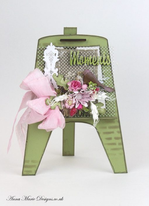 Easel card green