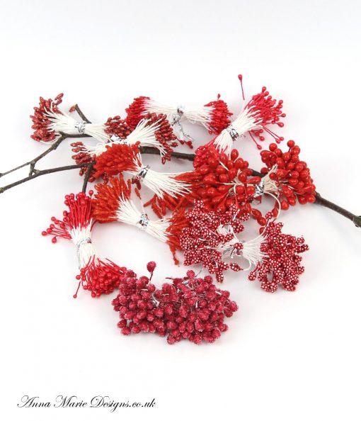 red stamens
