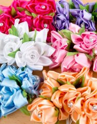 Silk Satin Flowers
