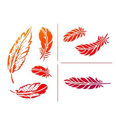 Viva Feathers Stencil