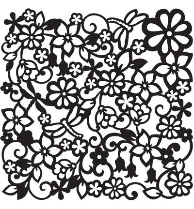springtime stencil
