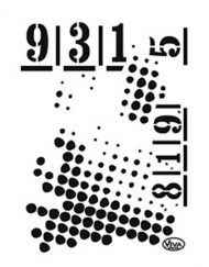 viva dots and numbers stencil