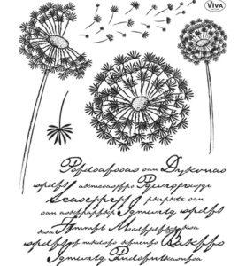 viva dandelion stamp
