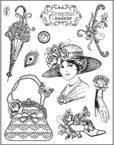 viva vintage couture stamp