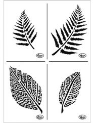 viva leaves stencils