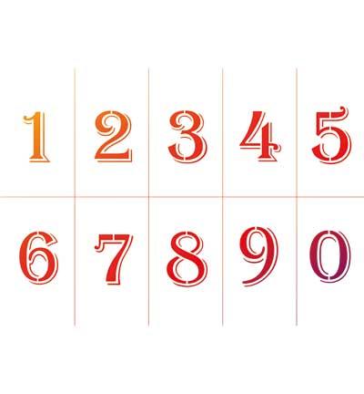 viva numbers 0-9 stencil