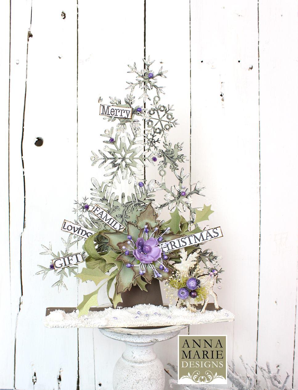 Purple Snowflake Tree