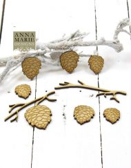 MDF PINE CONES AND BRANCH