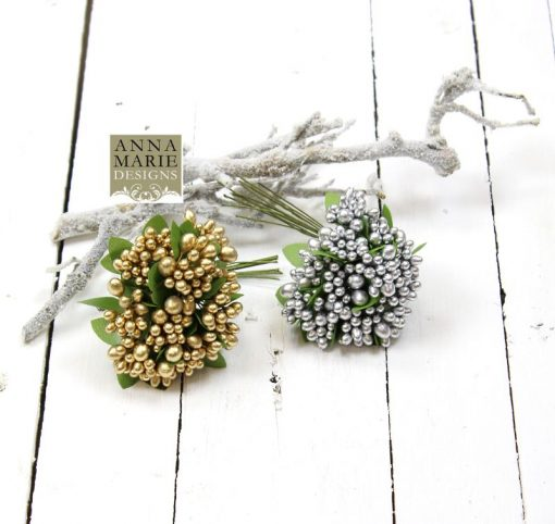 Silver and gold berries