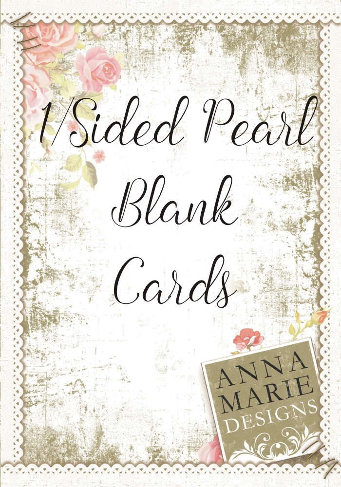 1/Sided Pearl Blank Cards