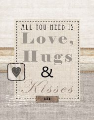 13311440 LOVE HUGS KISSES napkin