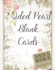 2/Sided Pearl Blank Cards
