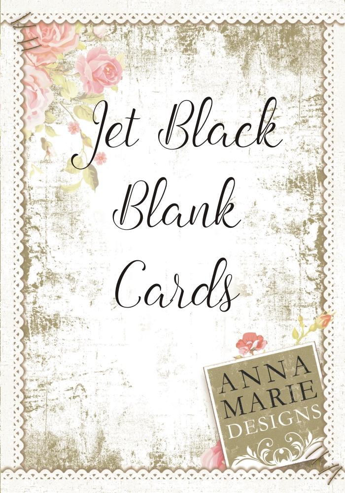Black Blank Card