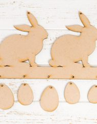 rabbits and eggs plaque