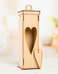 heart mdf wine box