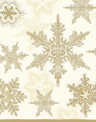 X SNOW CRYSTALS GOLD napkin