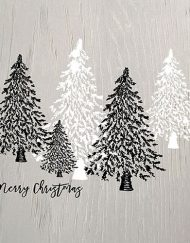 X WOODEN CHRISTMAS TREES GREY 33312230